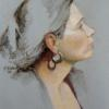 The Ear Ring 16 x 20 Pastel NFS